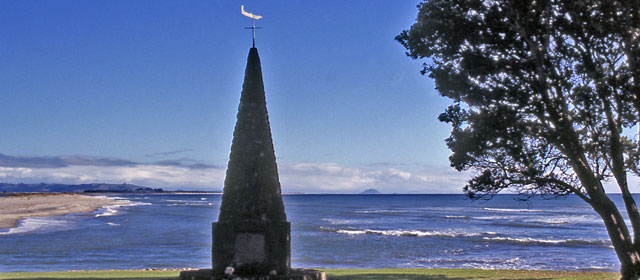 Te Arawa monument, Maketū, Bay of Plenty