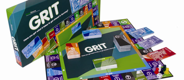 Grit board game to teach children farming terminology and practices