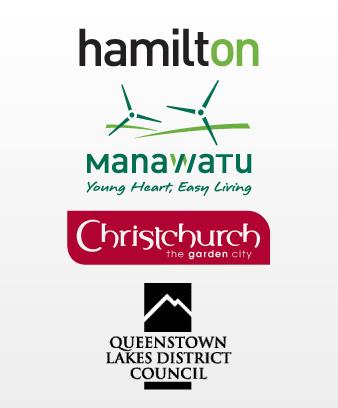 City slogans and logos
