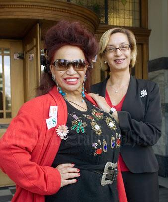 Carmen Rupe and Georgina Beyer