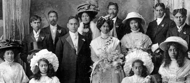 Wedding party, Wairarapa, 1909