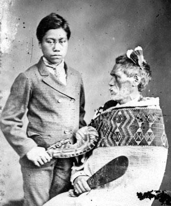 Rewi Maniapoto and whāngai son, 1879