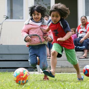 Children playing at Manukau Central Kindergarten