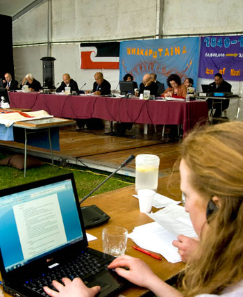 Waitangi Tribunal hearing in the Bay of Islands, 2010
