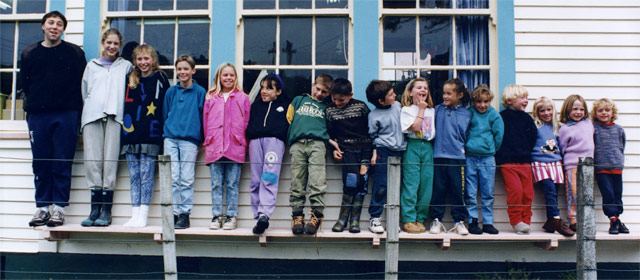 The students of Tuturumuri School, Wairarapa
