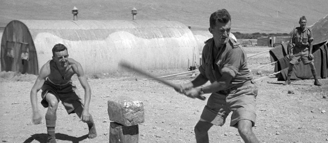 Playing cricket in Syria, May 1942