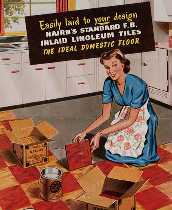 advertising linoleum tiles 1950s