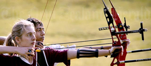 Schools archery competition, Auckland, 2005