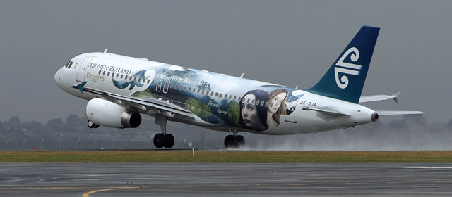 An Air New Zealand jet