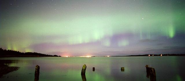 Aurora australis, Bluff Harbour