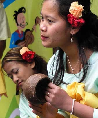Cambodian folk dancers