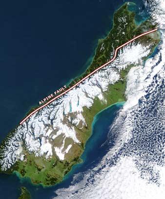 The Alpine Fault, South Island