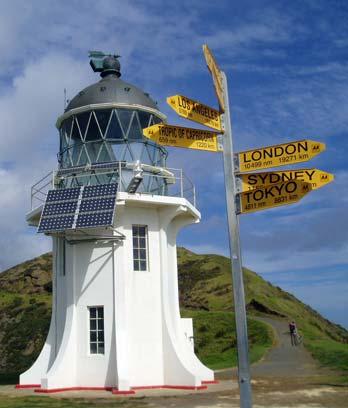 The solar-powered lighthouse at Cape Rēinga