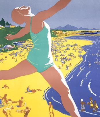 Poster advertising Timaru, 1937