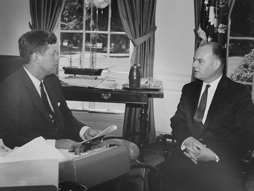 George Laking and President John F. Kennedy