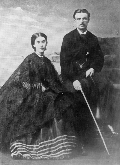Mary Anne Barker and her husband, Frederick Napier Broome