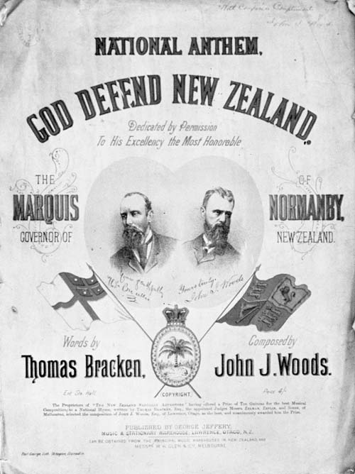1879 edition of 'God defend New Zealand'