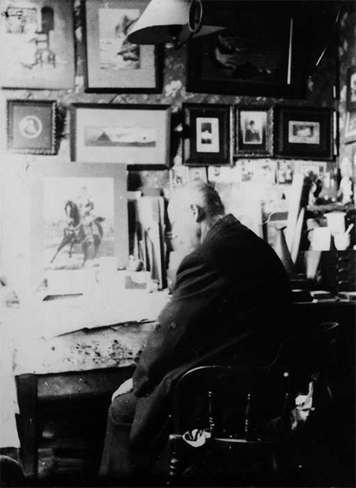 Versatile newspaperman Alfred Amory George in his study