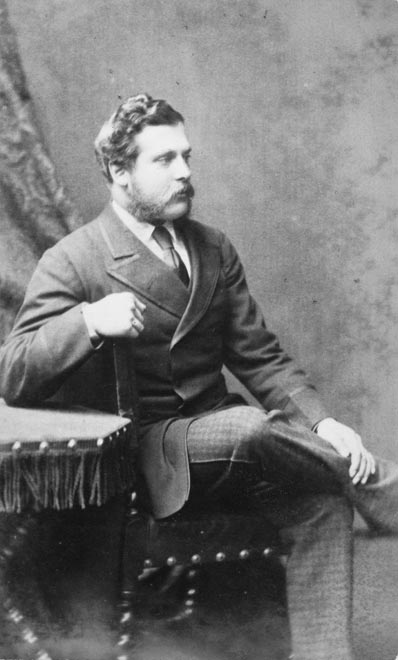 William Hort Levin photographed in London, 1870s