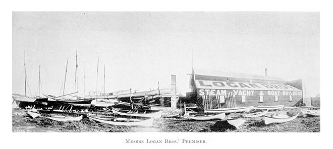 The boat yard operated by Archibald Logan and his brothers Robert and John, Auckland, 1898