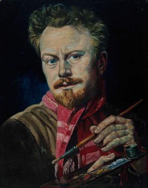 A self-portrait of Leonard Mitchell, about 1965