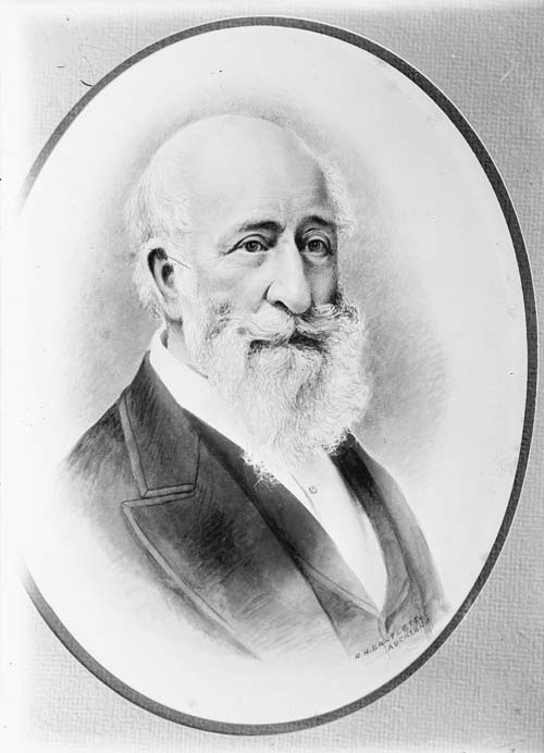Ink drawing of John Israel Montefiore