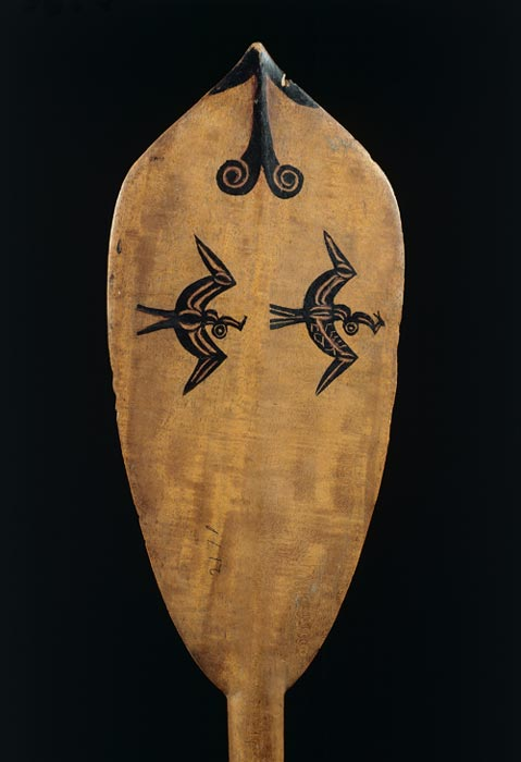A canoe paddle from the Pacific