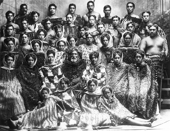 Maori concert party, about 1911