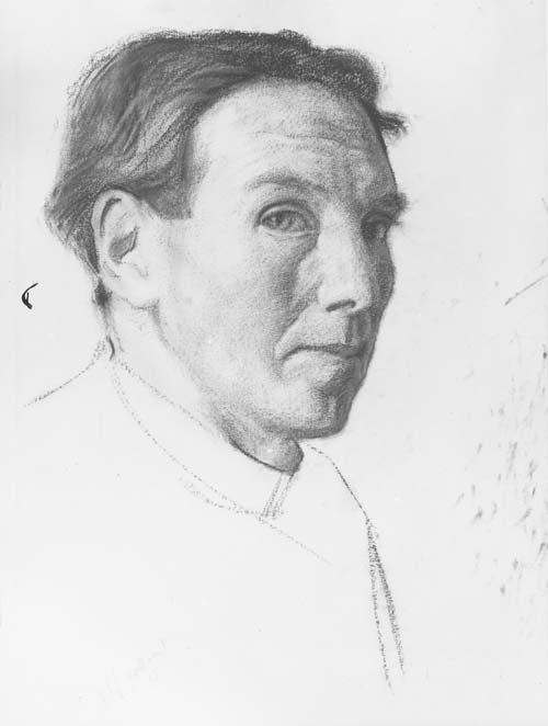 Harry Linley Richardson, self portrait