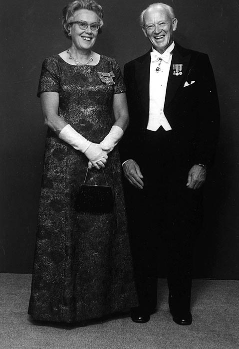 Hubert James Ryburn and his first wife, Jocelyn