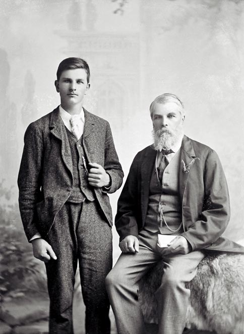 John Tiffin Stewart and his son.