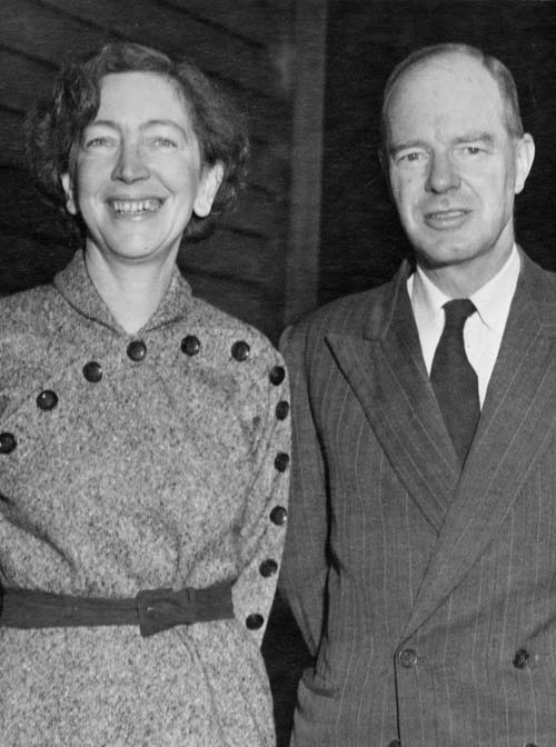 Alexander Kingcome Turner, pictured with his wife Dorothea in 1959