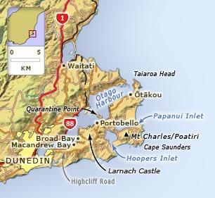 Dunedin Map New Zealand.Otago Peninsula Otago Places Te Ara Encyclopedia Of New Zealand