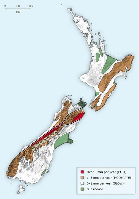 Uplift of New Zealand