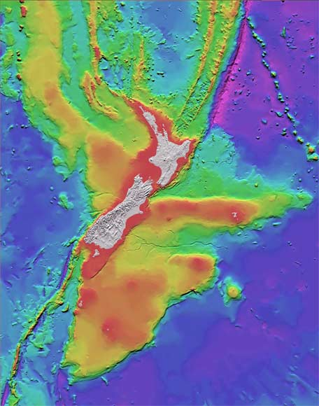 New Zealand And Its Seabed Sea Floor Te Ara