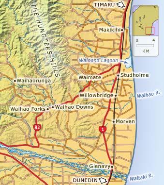 Map Of Canterbury New Zealand.Waimate South Canterbury Places Te Ara Encyclopedia Of New Zealand