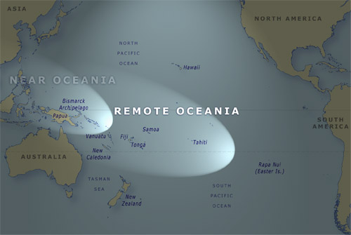 The Pacific Ocean, showing Remote Oceania