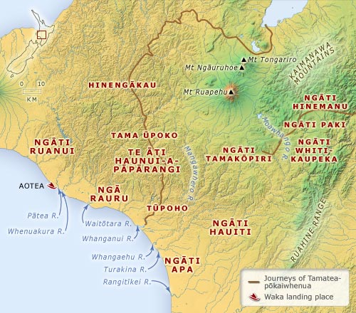 Canoes, tribes and sub-tribes of the Whanganui region