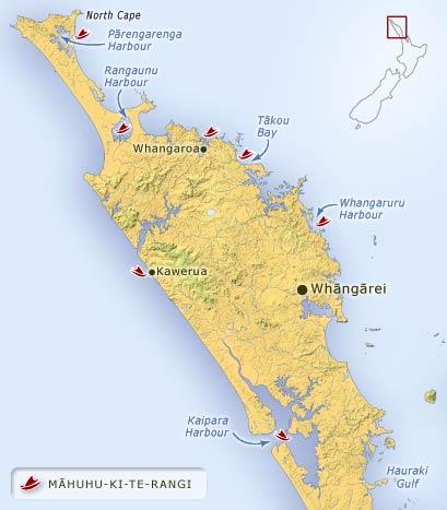 Māhuhu-ki-te-rangi landing places