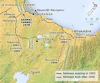 Rail routes, 1950–1980