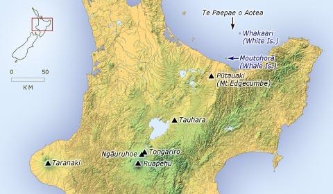 Ngā maunga i te puku o Te Ika-a-Māui