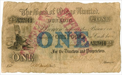 Trading bank banknotes: Bank of Otago note