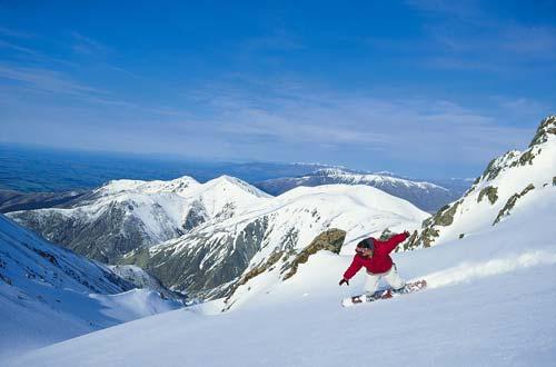 Snowboarding, Mt Hutt