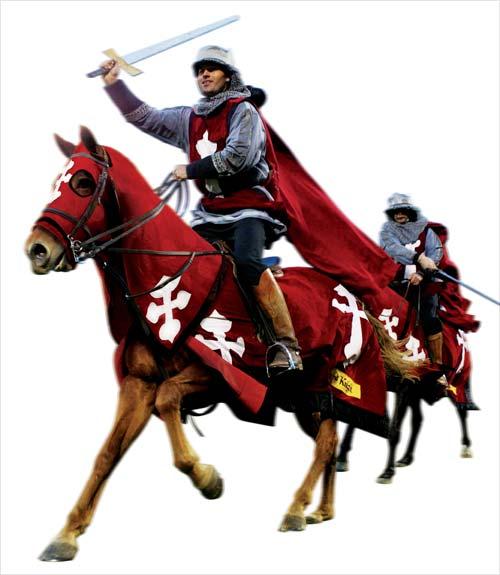 Crusaders horsemen