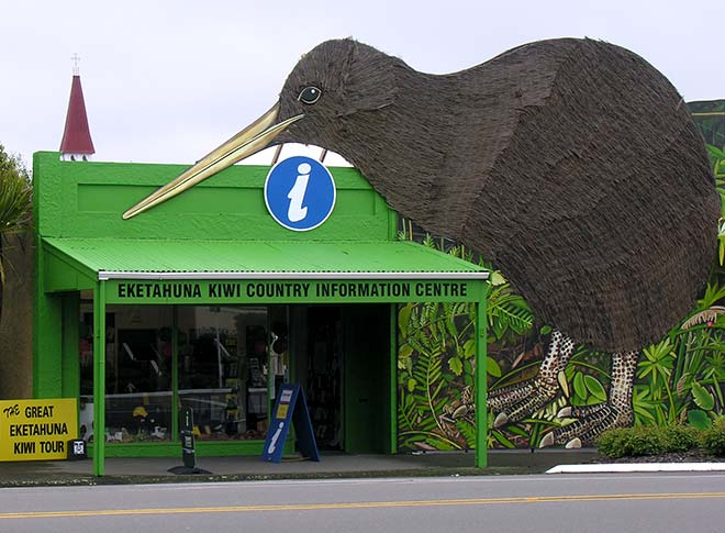 Kiwi as symbol: promoting Eketāhuna