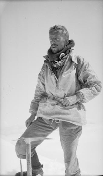 John Pascoe on Mt Evans