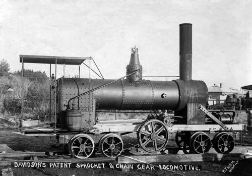 Davidson chain-and-sprocket geared locomotive