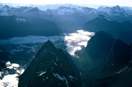Mitre Peak, Milford Sound and Mt Tūtoko