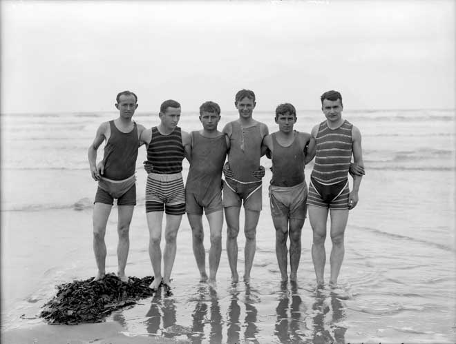 Men at the beach