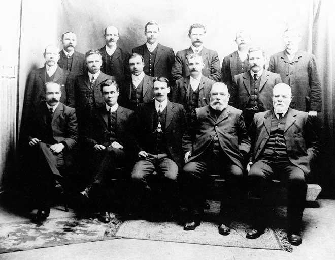 Miners' Federation meeting, 1908
